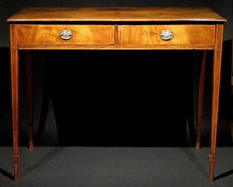 An 18th Century George III Inlaid Mahogany Writing Table / Sofa Table, England