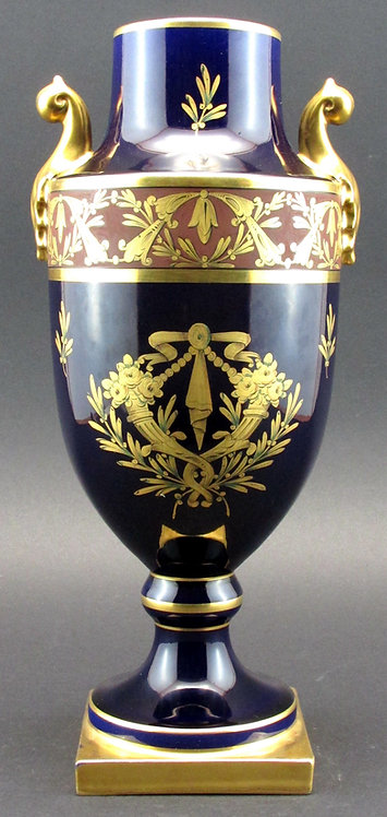 Fine French Art Deco Porcelain Vase by Pinon Heuze for Sevres, France circa 1930