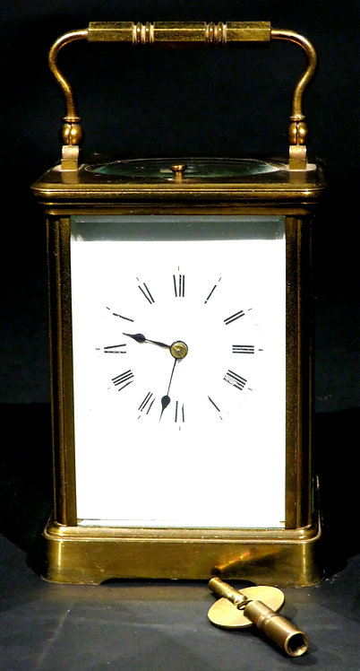 A Late 19th Century Repeating Brass Carriage Clock, France Circa 1890