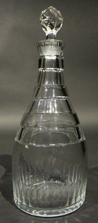 A Very Good Art Deco Period Cut Glass Spirit Decanter, England Circa 1920