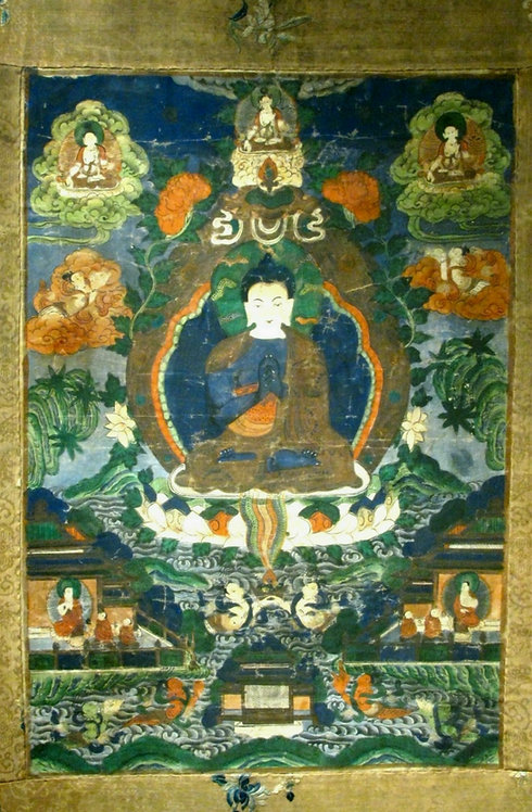 An 18th / 19th Century Tibetan Thangka of Buddha Nagaraja (King of Serpents)