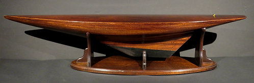 Mahogany Model of a Racing Yacht with Canadian Military Provenance, Circa 1920