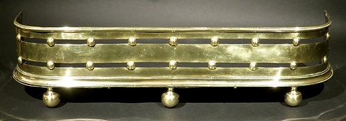 A Very Good & Diminutive 19th Century Brass Fire Fender, England Circa 1880