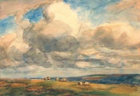 Pastoral Landscape with Haycarts, John Atkinson (1863 - 1924)