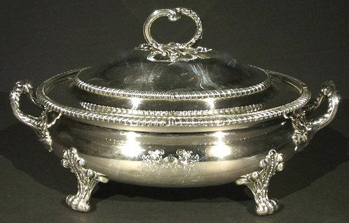 A Very Fine & Large George III 'Old Sheffield Plate' Lidded Soup Tureen, England