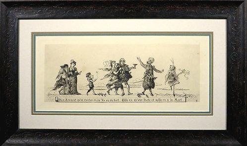 'Le Chemin de la Mort', A 19th Century 'Memento Mori' Etching