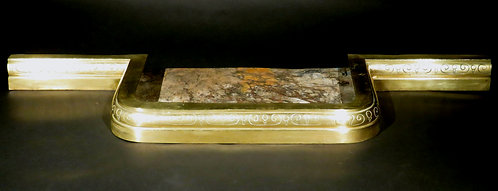 A 19th Century Brass Fireplace Fender, England Circa 1840