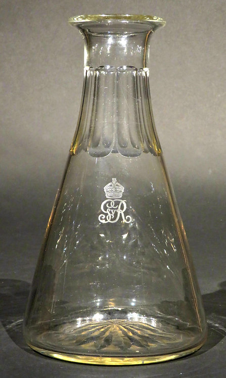 A Very Good Glass Wine Carafe Bearing the Royal Cypher of King George V
