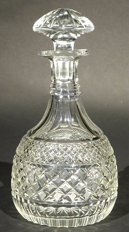 A Very Good Regency Period Anglo-Irish Glass Magnum Decanter, Circa 1825