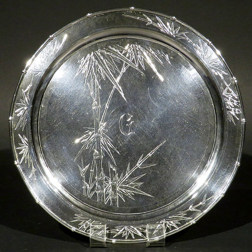 A Fine Early 20th Century Chinese Export Silver Salver, Shanghai Circa 1900