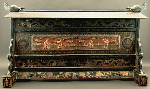 Impressive 19th Century 'Straits Chinese' Lacquer Table Scre