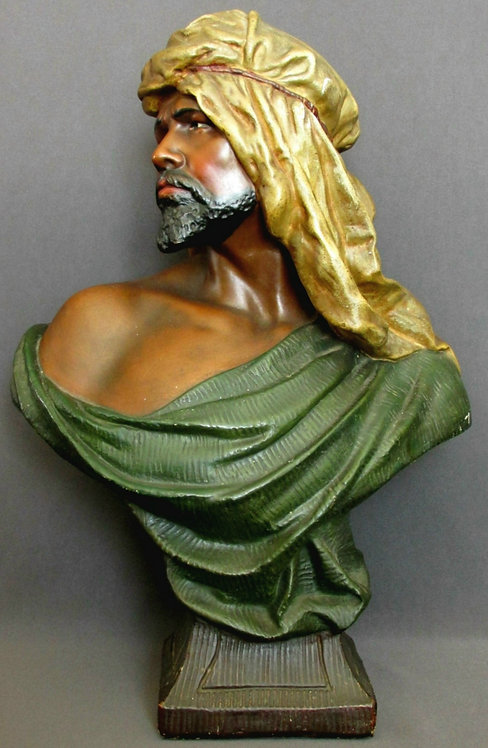 Early 20th Century Orientalist Plaster Bust of a Moor, Austria, circa 1920