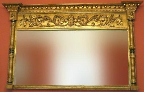 A Very Good Regency Period Giltwood Mantel Mirror, England Circa 1825