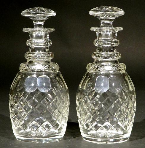 Very Good Pair of William IV Cut Glass Spirit Decanters, England Circa 1835