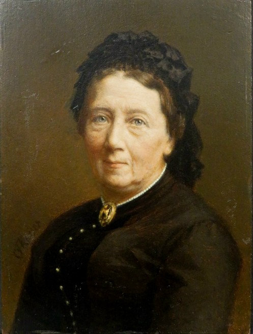 Portrait of a Woman in Black, Attributed to Eduard Kaiser (1820-1895) Austrian