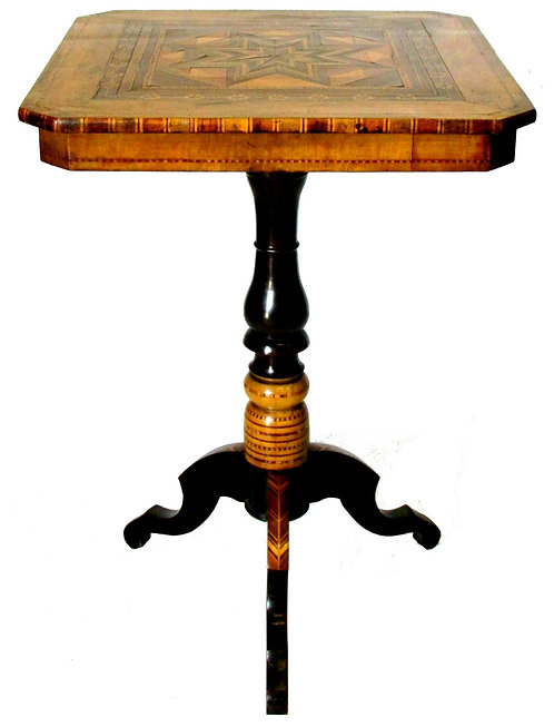 A Stunning 19th Century Signed Sorrento Parquetry Occasional Table, Italy
