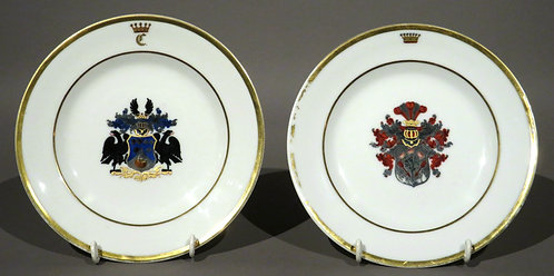 A Very Good Pair of 19th Century German Porcelain Cabinet Plates
