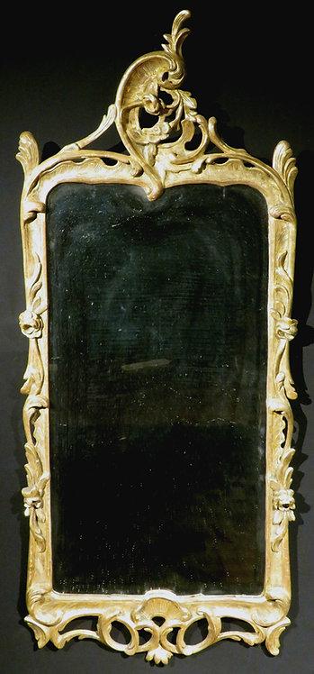 An Exceedingly Fine Rococo Period Giltwood Mirror, Continental Circa 1760