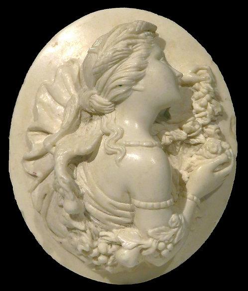 A Fine 19th Century Carved Lava Cameo, Continental Circa 1870
