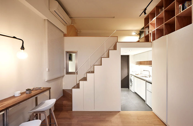 Mini apartamento, mega design
