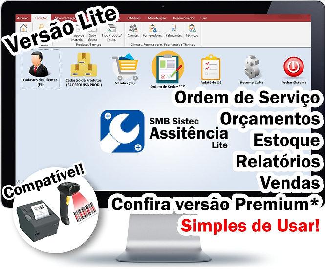 Sistema para Assistência Técnica, Ordem De Serviço, SMB Sistec Lite