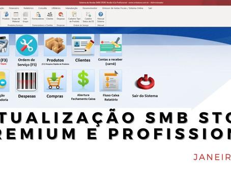 Confira as atualizações do mês de Janeiro 2021 SMB STORE Premium e SMB STORE Profissional