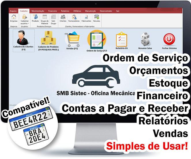 Sistema para Oficina Mecânica, Auto Center, Motos, Auto Elétrica, SMB Sistec