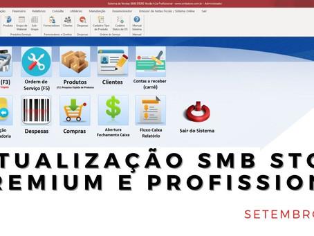 Confira as atualizações do mês de Setembro SMB STORE Premium e SMB STORE Profissional