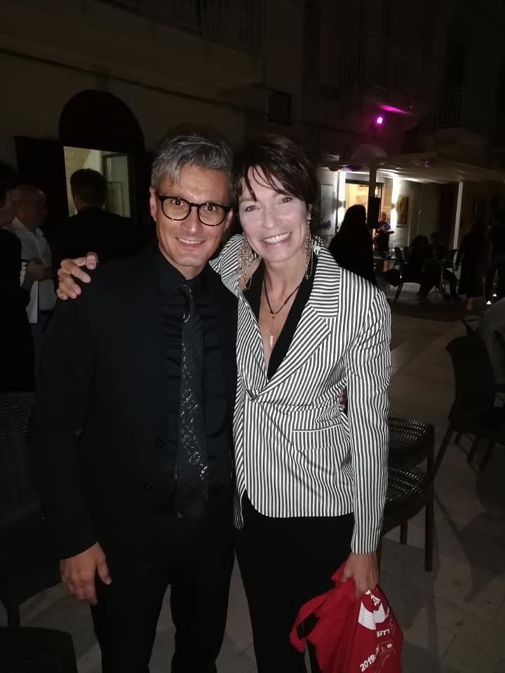 Con l'attrice Stefania Rocca