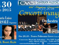 Al via la stagione concertistica della Camerata musicale salentina. Al Politeama Maria Luisa Casali,