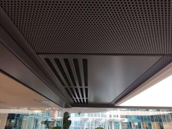 Cabine plafond metal acoustique