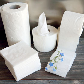 White kitchen towel, toilet paper, tissu