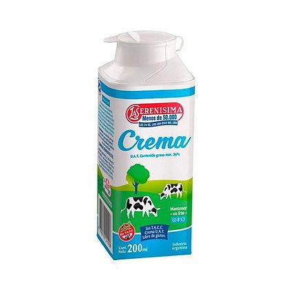 Crema de leche La Serenísima