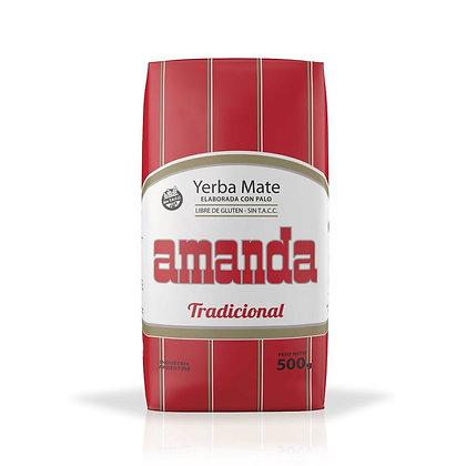 Yerba Mate Amanda Tradicional 4 láminas