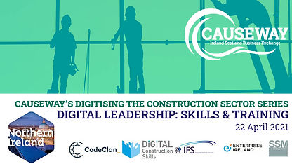 Digitising the Construction Sector event poster