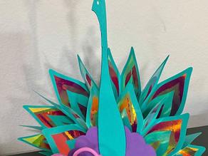 3D Peacock with Cricut