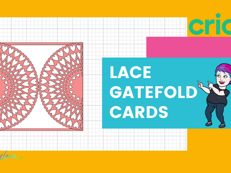 Learn to Design Lace Gatefold Cards/Invitations with Cricut