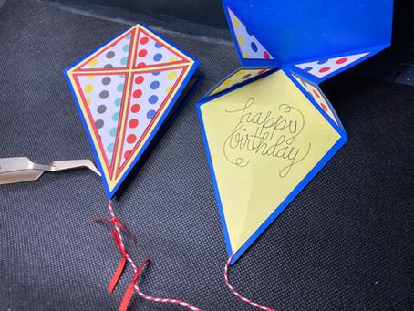 Kite Shaped Cards! Crop Reminder! TONIGHT!