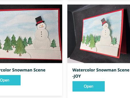 Watercolor Snowman Card with Cricut | Melody Lane