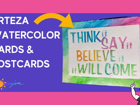 Arteza Watercolor Cards & Postcards