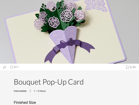 Bouquet Pop Up Card from Design Space