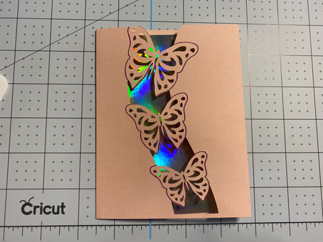Easy Cricut Butterfly Encouragement Card for Joy and other Cricut Machines