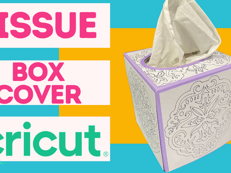 Double Feature Tonight! Tissue Box Cover & Fireplace Easel Card