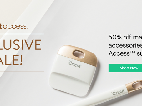 More than 50% off Cricut Products! Here's something for you!
