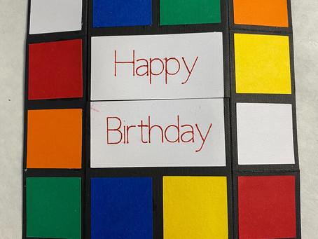 Rubik's Cube Infinity/Never Ending Card with Cricut