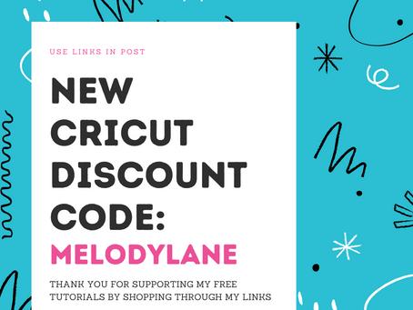New Cricut Discount Code!