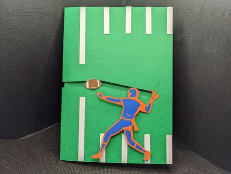 Interactive Football Card with Cricut!