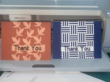 Thank You Cards with Cricut!