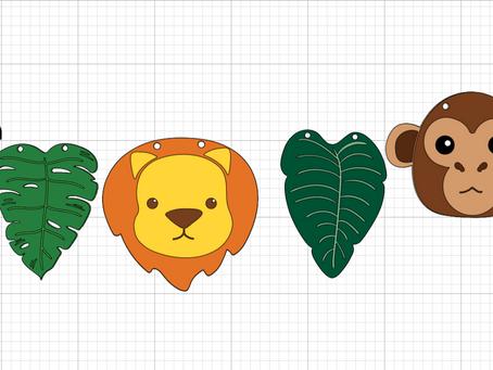 Jungle Animals Banner with Cricut