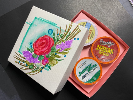 Watercolor on Cricut Made K-Cup Gift Boxes!